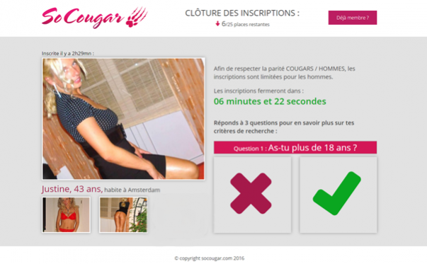 cloture des inscription socougar