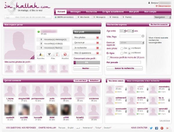 profil et rencontres sur inshallah