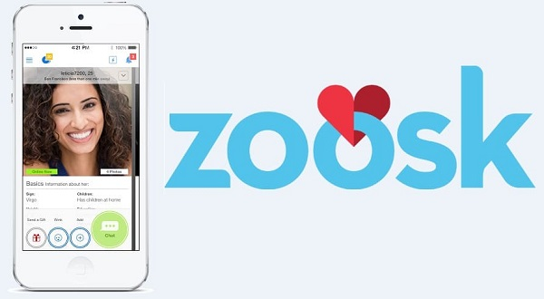 application zoosk résultats