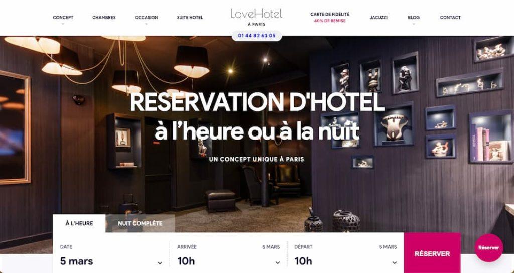 hôtel libertin Love Hotel à Paris